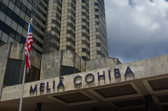 In honor of our tour, the Melia Cohiba Hotel proudly flew the Stars and Stripes. We were told it was the second time since the Revolution that the American flag had flown publicly.