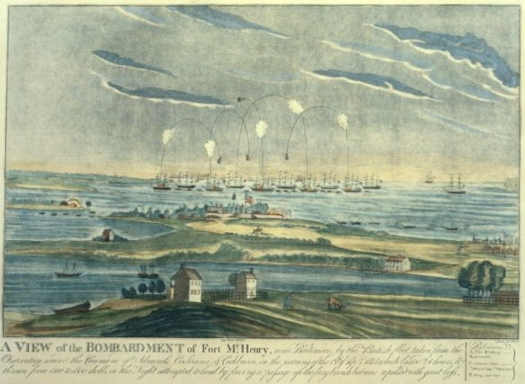 "Francis Scott Key's poem,""Defence of Fort M'Henry,"" celebrated an implausible American victory during the War of 1812."